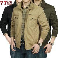 Erkek Ceketler Qiqichen Sonbahar Ceket Erkekler Büyük Boy 3XL Jaqueta Masculina Bombacı Rüzgarlık Veste Homme Rahat Mont