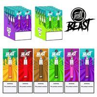 Puffs Labs Beast Vapes jetables 1500 Puffs 1000mah Dispositif Disposable de batterie Pré-remplie 4.0ML POD TOP TOP TOP MULTI COULEURS