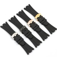 28mm Gummiarmband Natur Uhrenarmband Schwarz Gürtel Für Fit AP Royal Oak Offshore Uhrenarmband
