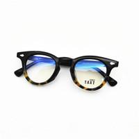 215 جديد النظارات البصرية شعبية خمر الكلاسيكية لوحة جولة واضحة عدسة عدسة نظارات الاتجاه avant-garde نظارات تأتي مع مربع متقدم