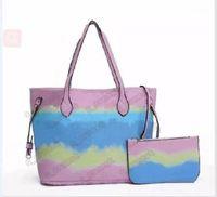여성 2pcs 세트 핸드백 꽃 좋아하는 클러치 토트 크로스 바디 쇼핑 어깨 가방 호보 가방 보스턴