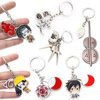 أنيمي ناروتو الحلي uzumaki uchiha sasuke konoha قلادة المفاتيح حقيبة الظهر حامل سحر chaveiro مجوهرات تأثيري llaveros