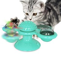 Pet Toys for Cats Interactive Puzzle Training Turntable Wind...