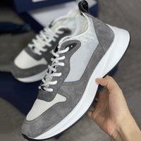 Homens B25 Sneakers Espadrilles Trainers Sapatos Trendy Runner Plataforma Sapatos para Homens Preto Branco Camurça Couro Chaussures De Esportes Sapatos