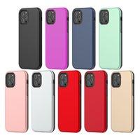 Per iPhone 12 Pro MAX 12 MINI MINI HYBRID COMBO 2 IN 1 TPU PC Cassa del telefono Antiurto Antiurto Caso mobile Copertura posteriore D1