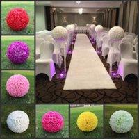 12inch(30cm) Hanging Decorative Flower Ball Centerpieces Silk Rose Wedding Kissing Balls Pomanders Mint Decoration