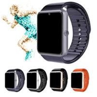 الجملة GT08 الساعات الذكية معصمه لالروبوت سيم الذكي سجل النوم الرياضة smartwatch الرجال امرأة الاطفال pk u8 a1 dz09