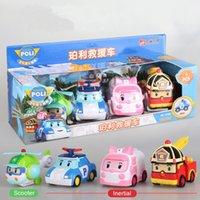 4 قطع الأصلي الصبي بولسي robocar كوريا poli سيارة الجمالية الاطفال اللعب التحول أنيمي عمل الشكل لعب للأطفال Playmobil 201202