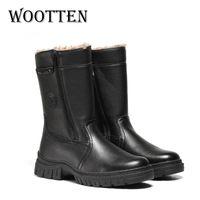 Wärm Wärmstens Schuhe Leder Handmade für Männer Platform Hohe Stiefel Winter LJ201028