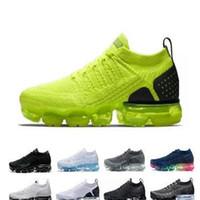 2018 2019 Chaussures MOC 2 Laceless 2.0 Koşu Ayakkabıları Üçlü Siyah Tasarımcı Erkek Kadın Sneakers Fly Beyaz Örgü Yastık Trainers Zapatos