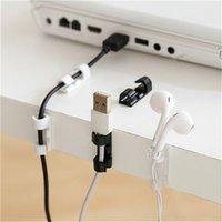 Cable Organizer Clips Cable Gestione Desktop Workstation ABS Wire Gestore Gestore del cavo Portadistruzione USB Ricarica linea dati Bobina Avvolgitore DDA2835