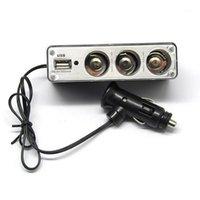 자동차 12V 3 웨이 소켓 확장 담배 라이터 플러그 USB 충전기 포트 어댑터 E90 E93 M3 E60 E46 E36 E39 x3 i3 i81