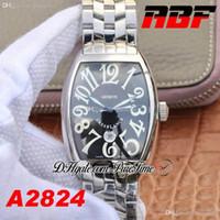 ABF الدار البيضاء 8880 ETA A2824 Automatic Mens Watch Detail Blue رقم أسود أبيض سوار الفولاذ المقاوم للصدأ أفضل طبعة PTFM 2020 Puretime 02B2