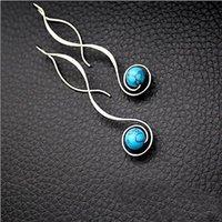 Retro Ohrring Einfachheit Frau Mode Perle Legierung Neue Schmuckzubehör Beliebte lange Ohrhörer Hochzeitsgeschenke 3cs K2