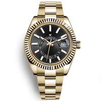 남자 스카이 시계 고품질 자동 기계 패션 비즈니스 2813 무브먼트 시계 스테인레스 스틸 40mm 발광 방수 손목 시계