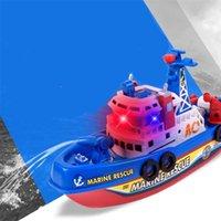 حمام سباحة حمام لعب للأطفال الموسيقى الخفيفة الكهربائية الإنقاذ البحرية قتال قارب الكلاسيكية الأطفال اللعب المياه الصيف LJ201211
