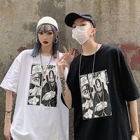 Erkek T-Shirt Tshirt Unisex Naruto Harajuku Serin Japon Anime Uchiha Itachi Baskı Kısa Kollu T Gömlek Erkek Streetwear Rahat