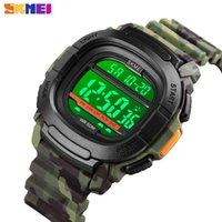 SKMEI 1657 мужские спортивные часы 5BAR водонепроницаемые ударопрочные цифровые часы Стоят смотреть мужчины военные электронные наручные часы