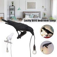 Diseñador lámpara de aves Lámpara de pared LED con enchufe en cable de sala de estar Lámpara de escritorio Luces de cama Aisle Restaurante Bird Wall Light Home Art Decor