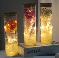 LED Night Light Cover Flores eternas Estrelas Flowers Secadas Dia dos Namorados para enviar um presente de aniversário criativo para namorada