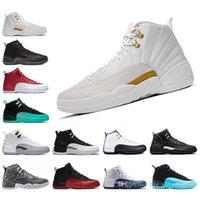 Zapatillas de baloncesto 12 12s Burdeos Dark Grey Wool Blanco Gripe Gimnasio UNC GYM RO Taxi Gamma Francesa Blue Suede Sneakers Sports Tamaño 8-13