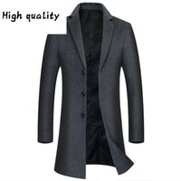 direct Factory sale of men's medium and long woolen coat in autumn and winter 2020