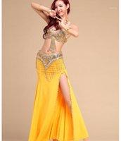 2020 seksi kadın performans oryantal dans kostümleri oryantal dans kıyafetleri 3 adet kadın oryantal dans tam set sutyen kemer etek1