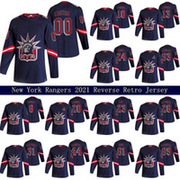 Nova York Rangers 2021 Reverse Retro Jersey 13 Alexis Lafeniere 10 Artemi Panarin 24 Kaapo Kakko 23 Adam Fox Custom Hockey Jerseys