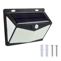 208 LED 태양 전원 Lighpir 모션 센서 보안 옥외 정원 벽 램프 US 3 모드 IP65 방수
