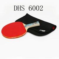 DHS 6002 مضرب تنس الطاولة مع غطاء تنس المطاط التدريب المهنية مضارب pingpong مجداف هدية عيد الميلاد 1