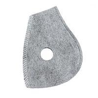 Маска наполовину лицевой маски 1 ШТ. Анти-туманный лайнер 4-слойный фильтр активированный углеродный аксессуар Анти PM2.51