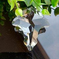 50 mm Cristales claros Cortina Cortina Colgante Araña Cristals Prismas SunCatcher Colgante Ornamento Decoración Lámpara de cristal Accesorios H BBYGBA