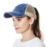 Kadın Beyzbol Şapka Visor Kovboy Şapka Splice Mesh Kap Ayarlanabilir Trucker Cap MZ006 Kadın Beyzbol H SQCNCV