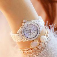 Mode Nouvelle bande de montre de céramique chaude - Montre-bracelet étanche Top Marque Luxe Medies Watch Women Quartz Vintage Femmes Montres 201119