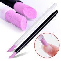 1 stücke Quarz Polierstift Nagelhaut Hangnails Remover Tote Haut Schieber Trimmer Maniküre Nail art Werkzeug Schleifstäbe