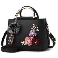 Kadın Tote Çanta Küçük Bayanlar Çanta Kadın Haberci Çanta Çiçekler Kabuk Deri 2020 Renk Omuz Çantaları Çiçek PU