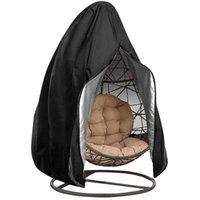 교수형 스윙 의자 덮개 방수 파티오 의자 커버 지퍼 먼지 커버 야외 가든 껍질 보호 케이스 블랙