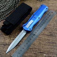 BM Infidel 3300 생존 자동 칼 비드 폭발 D2 블레이드 알루미늄 합금 핸들 야외 사냥 캠핑 나일론 파우치와 전술 칼