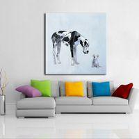 """""""Animalsthe Dog"""" enmarcado Sin marco de decoración para el hogar Artesanía / HD Pintura al óleo sobre la pared de la pared Pictures de la lona ER128"""