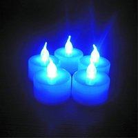 واحد متعدد الألوان المتاحة دوارة الإلكترونية ضوء الليل الديكور غرفة عيد الزفاف حزب الصمام شمعة الشاي ضوء