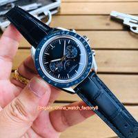 5 estilo de la mejor calidad A1 Fábrica 42mm x 12 mm Professional Moonwatch 3575.20 Bandas de cuero Cal.8806 Movimiento Mecánico Mecánico Reloj para hombre W