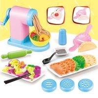 DIY Jogar Toy Toy Brinquedo Máquina De Máquina De Máquina De Brinquedo Toy Handmade Bolinho De Macarrão Maker Mini Criações De Cozinha Brinquedo Crianças Presente # G4 Y200428
