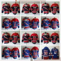 New York Rangers Hockey Hoodies Trikots 30 Henrik Lundqvist 99 Wayne Gretzky 11 Mark Morgy 2 Brian Leetch 20 Chris Kreider Blue Hoodies
