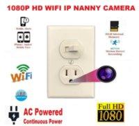 Pinhole Kameralar 2021 Sıcak Yeni 1080 P IP WiFi Çok fonksiyonlu Soket Kamera Kombinasyon Anahtarı Dadı Houseeper