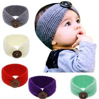 Baby Girls Solid Turban Turban Headbands Elástico Cabello Bandas Niños Headwear Tocado Hermoso Huilin DWH260