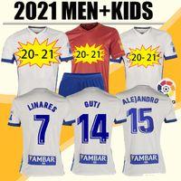 20 21 Echte Zaragoza Fussball Jersey 2021 Home Shinji Kagawa André Pereira Alberto Camisetas de Futbol Man Kinder Kit Football Hemd