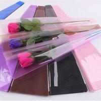 50 adet / grup Buket Ambalaj Kağıt Gül Çiçek Çiçekçi Tek Çiçek Çantası El Yapımı Saydam Ambalaj Kağıdı Kore Yeni Stil Hediye HHE3391