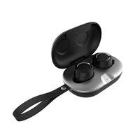 SMS-TWS04 Bluetooth 5.0 Écouteurs 300MAh Boîte de charge Casque sans fil Touche 6D Stéréo Sports Écouteurs imperméables Casques avec micro
