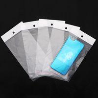 """Pacchetti all'ingrosso 300pcs / lot 11cm * 20 cm (4.3 """"* 7.9"""") Cancella Sacchetto di plastica Seal autoadesivo OPP Poly Retail Packaging con foro da appendere 431 N2"""