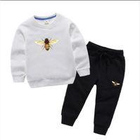 Kinder Junge Luxus Designer Mode Mädchen Kleidung Sportswear Herbst Baby Hoodies 2 Stück / Sets Kinder Outfit Kleinkind Baumwolle Trainingsanzug